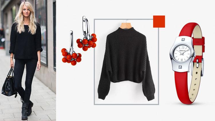 Украшения под чёрный свитер