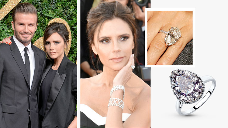 Помолвочное кольцо Виктории Бекхэм