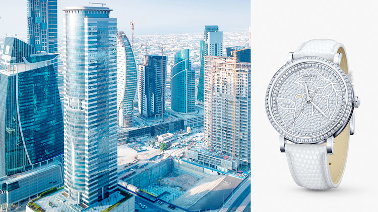 Дубай, серебряные часы SOKOLOV
