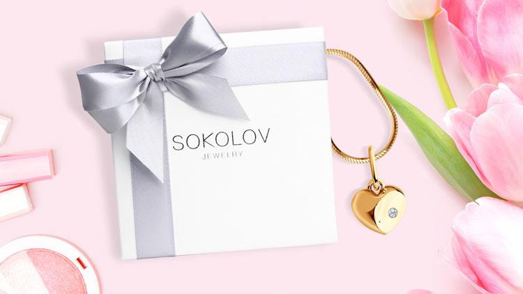 Золотая подвеска SOKOLOV в виде сердца