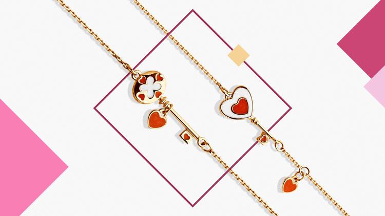 Золотые браслеты с эмалью