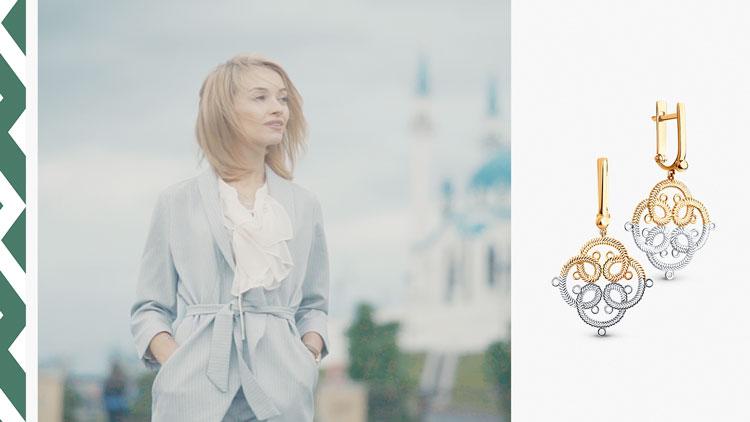 Алина Гималтдинова, серьги SOKOLOV