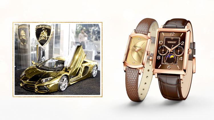 Золотая машинка, украшения из золота