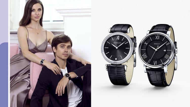 Артём Овчаренко, Анна Тихомирова, часы SOKOLOV