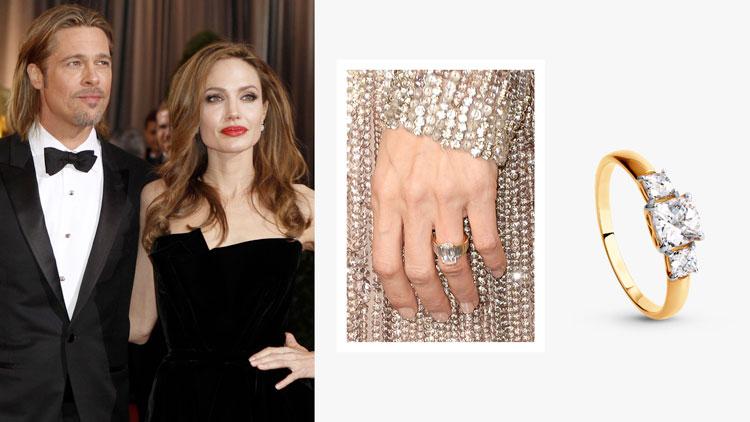 Помолвочное кольцо Анджелины Джоли