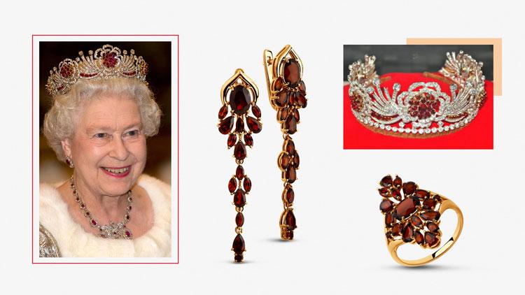 Украшения Королевы Елизаветы, рубины