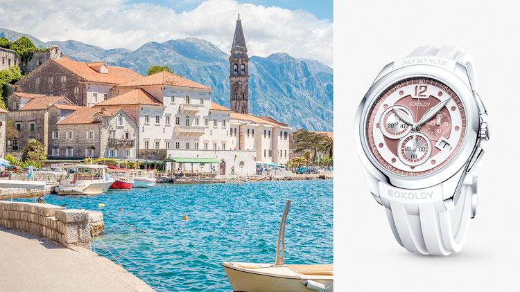 Черногория, серебряные часы SOKOLOV