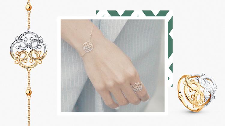 Алина Гилматдинова, кольцо и браслет SOKOLOV